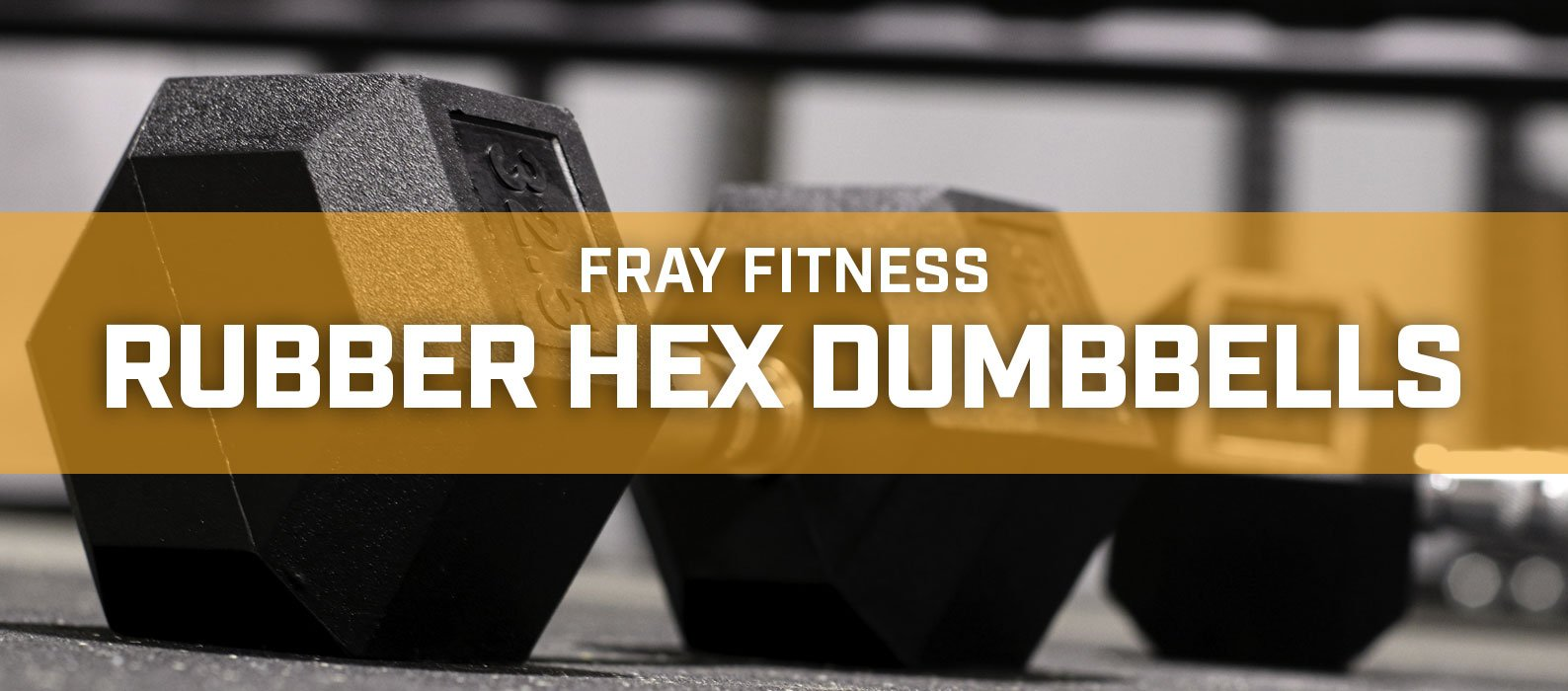 Black Hex Rubber Coated Dumbbells