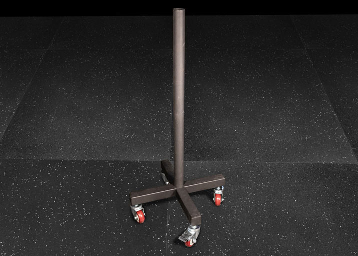 Vertical Bumper Plate Stand With Wheels